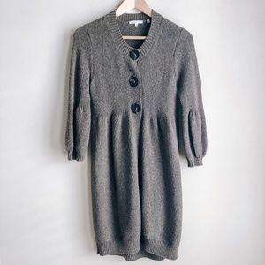 Vince Brown Button Down Chunky Cardigan Jacket